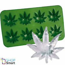 ICE CUBE TRAY MAKER WEED MARIJUANA CANNABIS LEAF SHAPE MOULD MOLD SILICONE DRINK