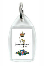 ROYAL CORPS OF SIGNALS KEY RING (ACRYLIC)