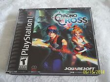 PS1 PLAYSTATION CHRONO CROSS BLACK LABEL COMPLETE RARE HTF MUST SEE & BUY IT NOW