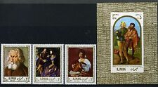 1968 Ajman Paintings from Famous Galleries (MNH)
