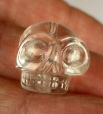Tibetan High Altitude Gem Quartz Crystal SINGLE SKULL small BEAD GANESH HIMAL