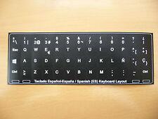 Servicio Traduccion pegatinas teclado español 14x14 Negro HP Asus Samsung Acer