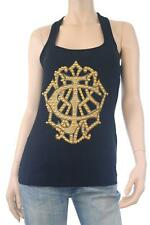 "BNWT Just Cavalli ""Embellished Logo"" Black Tank Top Size L"