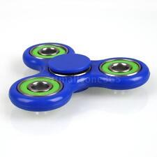 Tri-Spinner Fidget Hand Finger Focus Toy EDC Pocket Desktoy Blue&Green NEW