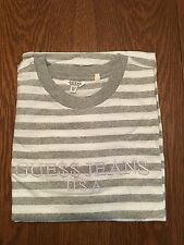 Guess ASAP T-Shirt sz. XL Stripe Jeans Rocky White Gray *Ships Today*