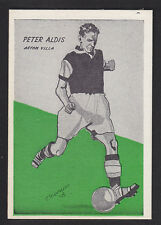 Master Vending - Cardmaster Football Tips 1958 - # 46 Aldis - Aston Villa