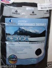 Indera Icetex NIP Men XL 42 44 Black Fleeced Thermal Long Underwear Pants