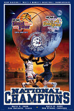 UCONN Connecticut Huskies Basketball 2004 NCAA DUAL CHAMPS Commemorative POSTER