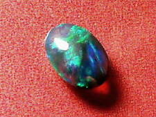Gorgeous Blue-Green Colour Pattern Natural Solid Black Crystal Opal 0.72 carat