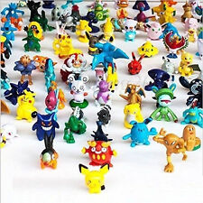 144pcs Lots Pokeball Pokemon Pikachu Monsters Mini Cartoon Figures Toy Kids Gift