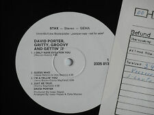 David porter-Gritty, Groovy and lâcher 'it-LP stax promo ARCHIVE-Copy MINT