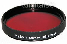 52mm Red Color Filter #25 B&W Film Digital 25A 25-A 52 mm 52mmREd Asian Camera