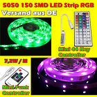 1M - 10M 5050 LED Strip Streifen Band Leiste Lichterkette RGB Controller Trafo