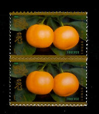 U.S. Stamps. Lot of 2 Stamps. CELEBRATING LUNAR NEW YEAR Kumquats for LUCK. MNH