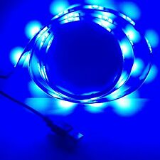 Blue Led Strip Light 1M 5050 leds Waterproof 5V+USB Port Cable To Notebook PC TV