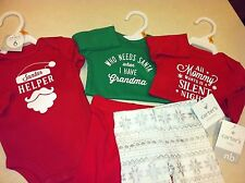 Baby Boy or Girl Newborn Christmas Lot 5 pieces for Holidays Carters New w/ Tags