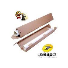 Lot de 5 Tubes triangulaire carton pour expédition et emballage Ø 60 mm x 64 cm