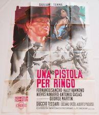 MANIFESTO 2F ORIGINALE UNA PISTOLA PER RINGO GIULIANO GEMMA 1965