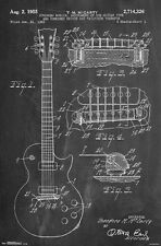 GUITAR BLUEPRINT - COLE BORDERS ART POSTER - 22x34 MUSIC SKETCH 14560