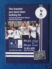 Football Ephemera - Tottenham Hotspur Visa Card Leaflet - 2006