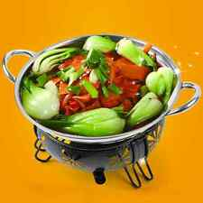 New Pocket Stainless Steel Shabu Shabu Cookware Hot Pot with Lid Party Soup 22cm