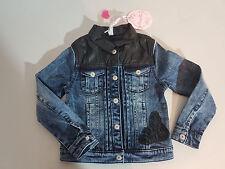 Pampolina enfants fille veste en jean taille 104 (4 ans) bleu denim NEUF