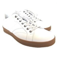 W-1419100 New Zegna Sport White Leather Sneaker Marked Size 10 US-11