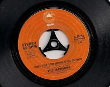 """The Jacksons Shake Your Body (Down To The Ground)  USA 45 7"""" single"""