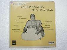 CHEMBAI VAIDYANATHA BHAGAVATHAR  TELUGU & SANSKRIT  RARE LP CLASSICAL INDIA vg+