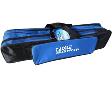 Blue Travel Rod Holdall Bag Compact Multi Pocket Carp Fishing Bag Carryall Case