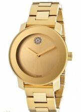 New Movado Bold Gold-Tone Stainless Steel 36mm Women's Watch 3600104