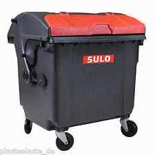 Mini Müllcontainer grau mit rotem Deckel Tisch Mülltonne Art.Nr. 22297