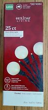 Warm White LED Large Bulbs & Small Domes 25 ct LIGHTS Christmas green wire NEW