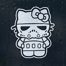 Star Wars Hello Kitty Trooper Clon coche decal Vinilo Adhesivo Para Ventana De Parachoques