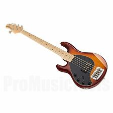 Music Man USA Stingray 5 Lefthand HB - Honey Burst MN *NEW* musicman bass lefty
