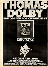 15/5/1982Pg36 Album Advert 15x10 Thomas Dolby, The Golden Age Of Wireless