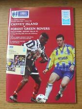 13/05/2001 FA Trophy Final: Canvey Island v Forest Green Rovers & FA Sunday Cup