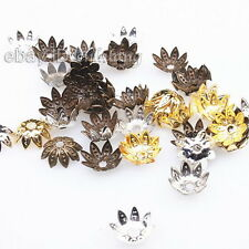 400pcs New Assorted Flowers Shape End Caps Beads Fit Jewerlry Making DIY 161073