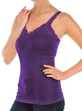 Womens TANKTOP Mopas WRINKLED CAMISOLE Lace Straps ONE SIZE TWC306 Fits S,M,L,XL