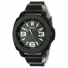 NWT HUGO BOSS Sao Paolo Mens Large Black PVD Silicone Sport Watch 50mm 1513106