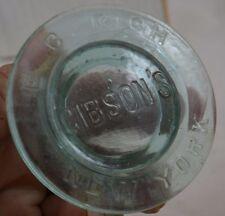 Gibson Fruit Mason Jar Light Green New York E. C. Rich