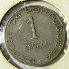 PORTUGUESE MOZAMBIQUE: 1936 nickel Escudo, 1-yr type colonial coinage; toned XF