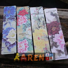 Paper Bookmarks Peony Painting 4 pcs book markers