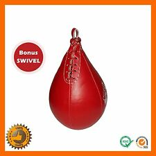 BOXING REXINE RED SPEED BALL PUNCHING BAG MMA MARTIAL ARTS UFC FITNESS KICK BALL