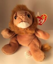 AUTHENTICATED by Becky's True Blue Beans-Roary #4069 TY Beanie Baby 2-20-96 PVC