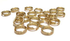 8040FD BULK  Gold plated steel Split Double Ring Connector, 5mm 1,440 Qty