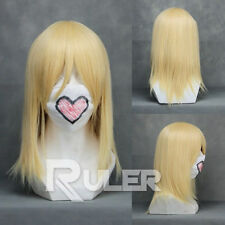 New 40cm Final Fantasy 13 Kingdom Hearts Namine Light Golden Anime Cosplay wig