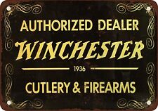 1935 Authorized Winchester Dealer Vintage Look Reproduction Metal Sign