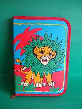 ORIGINAL VINTAGE 1990s LION KING ZIP PENCIL CASE WITH CONTENTS