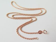 Authentic 18k Solid Rose Gold Men Women Rope Chain Necklace /1.5-2g /17.7''L